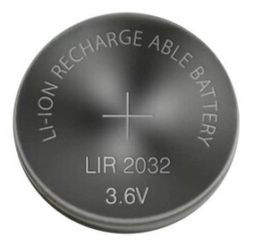Bateria Recarregável Lir2032 De 3,6v - 3 Unidades