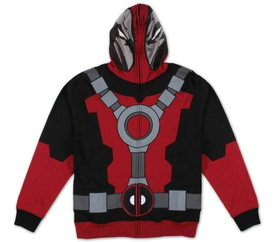 Chamarra Deadpool Traje Marvel X Men Original Hoodie Talla L