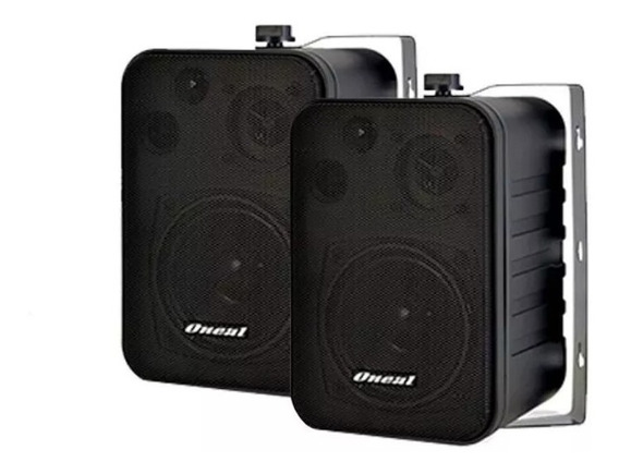 Kit 2 Par Caixa Som Op115 + Amplificador Oneal Om2000 60w