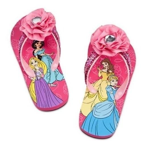 Ojotas De Disney Store De Nena Importadas De Princesas Nueva