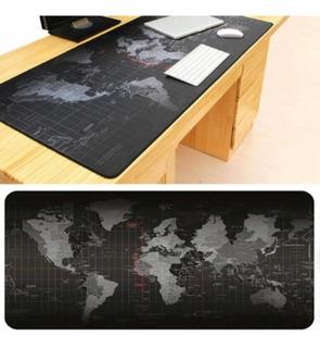 Mouse Pad Gamer 90x40cm Mapa Mundial Tapete De Escritorio