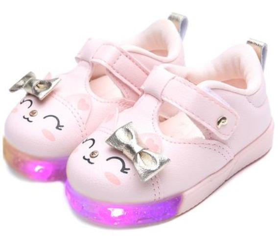 Pampili 471.026 Tênis Infantil Feminino Led Luz Baby Fun