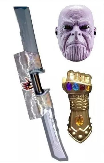 Thanos Espada Guante Y Máscara Con Luz