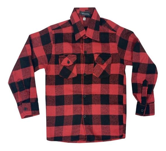 Camisa Xadrez Masculina Flanelado Estilo Lenhador