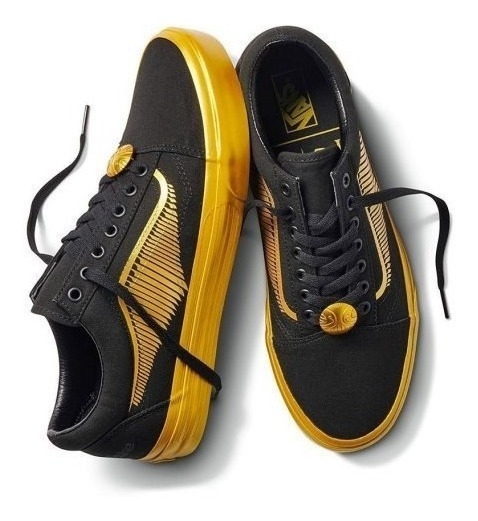 Tenis Vans Harry Potter Old Skool Golden Snitch Colección