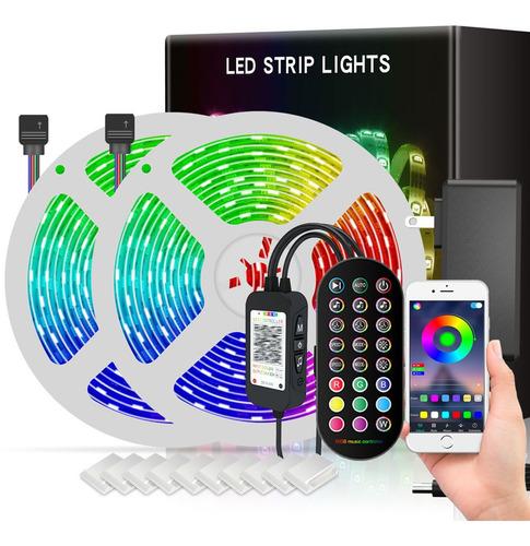 Tira De Luces Led App Bluetooth Control 5050 Rgb 20m (2x10m)