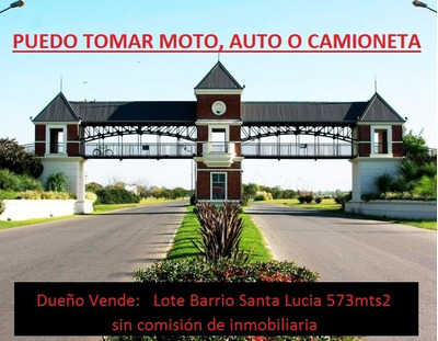 Vendo Lote Pilar Del Este B.santa Lucia 573mts2 - U$s17900