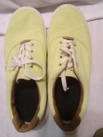 Zapatillas Talle 41 Pintadas A Mano Verde Manzana . Congreso