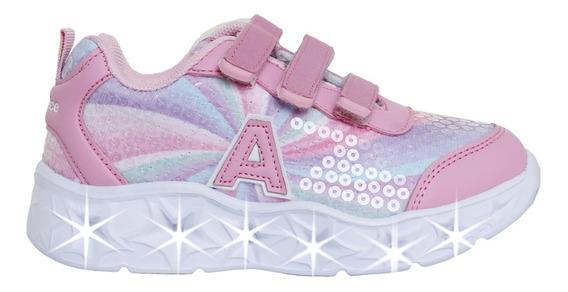 Zapatillas Addnice Moda Starlight Abrojo Niña Fu/li