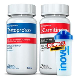 Kit Termogênico L-carnitine + Testopro 500 Inove 60 Cápsulas