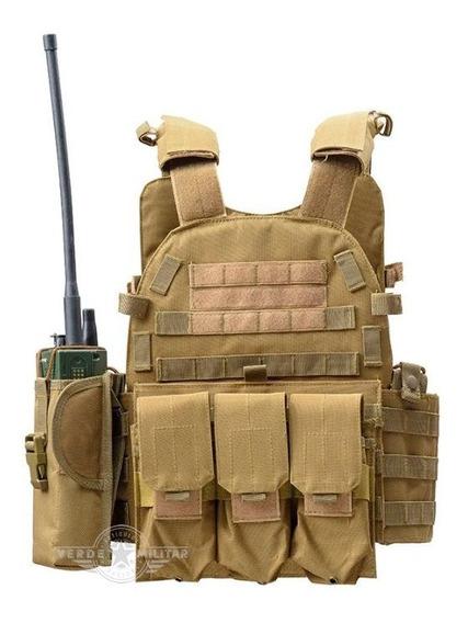Chaleco Táctico Militar Airsoft Gotcha Policía Porta Placas