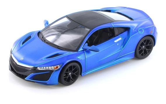 Miniatura Acura Nsx 2018 Azul Metálico Maisto 1/24