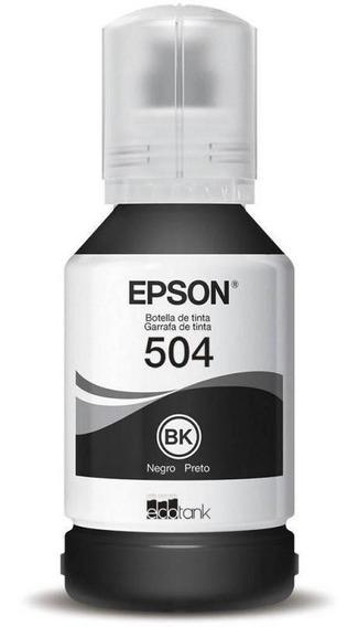 Garrafa De Tinta Epson T504 Ecotank - Preto