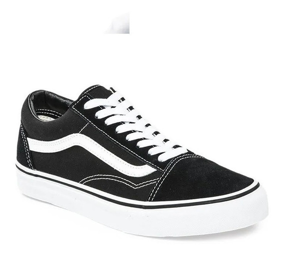 Zapatillas Vans Old Skool Unisex Negro/blanco Originales