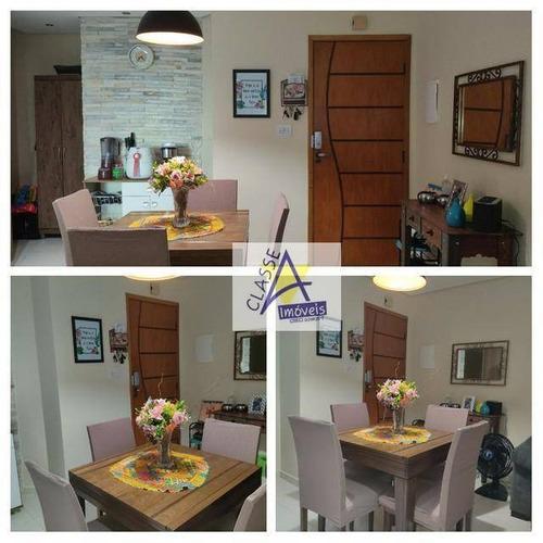 Apartamento Com 2 Dormitórios À Venda, 56 M² Por R$ 292.000 - Jardim Guapituba - Mauá/sp - Ap0717