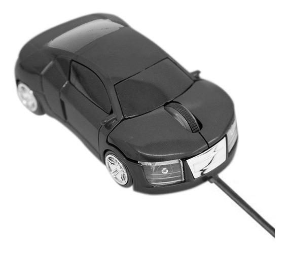 Mini Mouse Óptico Carrinho Cabo Retrátil Usb 1200dpi Preto