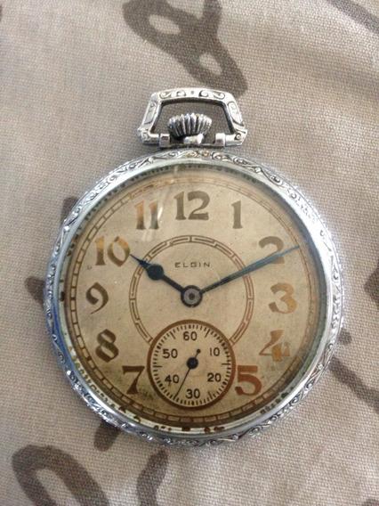 Reloj Bolsillo Elgin De Cuerda