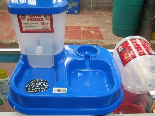 Dispensador Doble Comida Y Agua. Para Mascotas