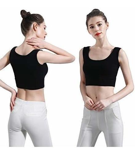Imagen 1 de 6 de Hzh Camiseta Corta Para Yoga Danza Atletico Sin Manga