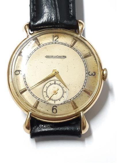Lindo Relógio Em Ouro 18k Amarelo Jaeger Lecoultre À Corda.