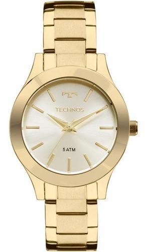 Relógio Technos Feminino 2035mkq/4x Dourado Metal