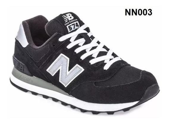 New Balance 574 Gris Y Verde Zapatillas Negro en Mercado