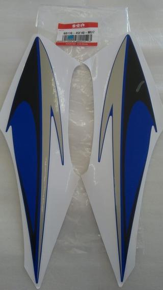 Par Adesivo Tanque Combustível Azul Direito E Esquerdo Suzuki Yes 125original