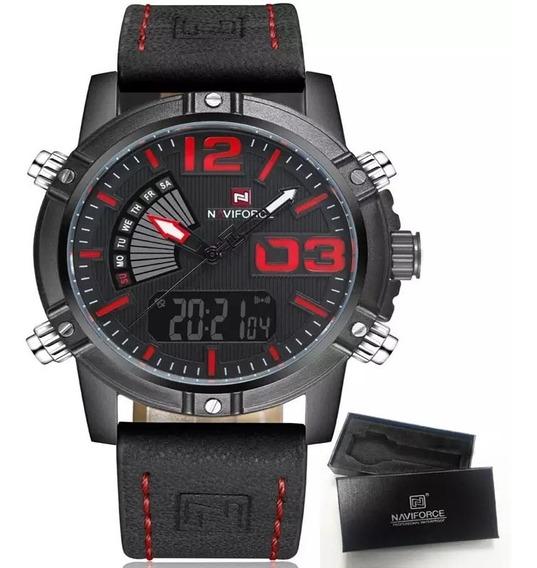 Relógio Naviforce 9095 Original Com Caixa Pronta Entrega Top
