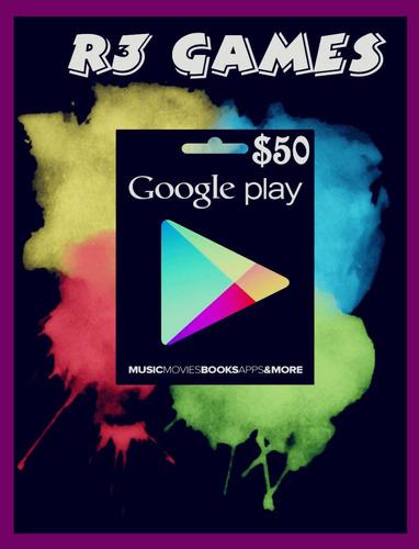 Tarjeta De Recarga $50 Usd Para Google Play Store- Free Fire