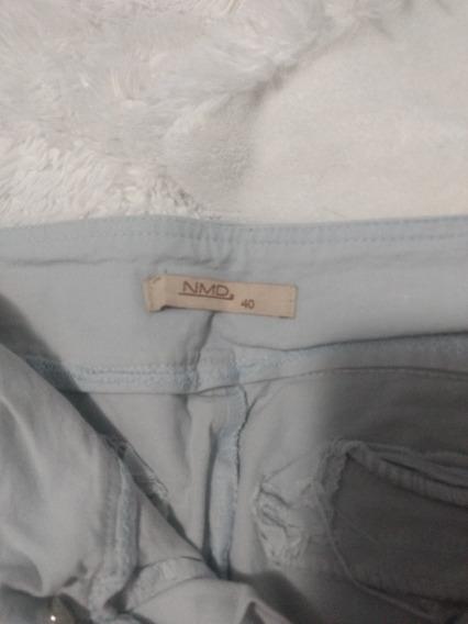 Pantalon Gris Normandi Talle 40 Chico Chupin De Vestir Mujer