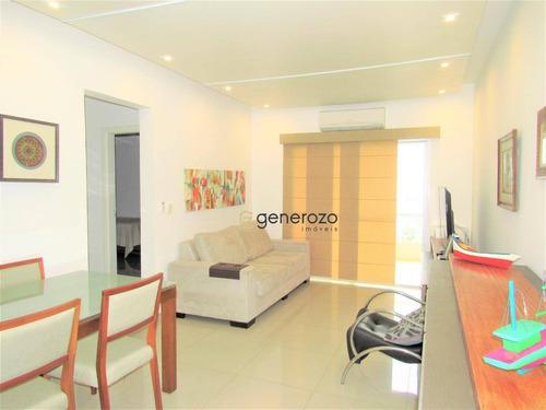 Apartamento À Venda Na Praia Do Tombo, 02 Dormitórios, Com Sacada E Garagem - Ap0393