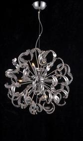 Lustre Style Cromado C/ Cristais - 50cm Blest Pd133