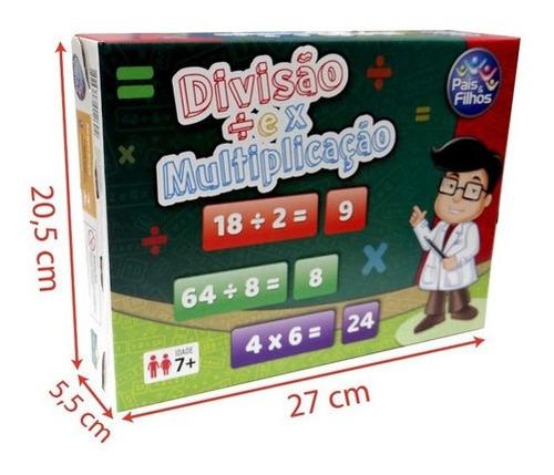Imagem 1 de 8 de Brinquedo Jogo Escolar Ensina Divisão E Multiplicação Educaç