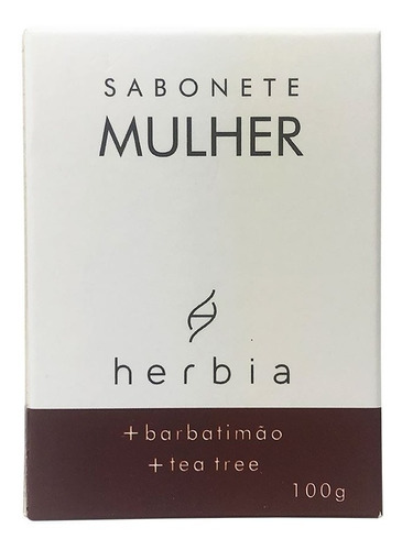 Sabonete Íntimo Em Barra Orgânico E Vegano Herbia 100 G