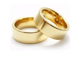 Par Aliança Anel Noivado Casamento Namoro Banhado A Ouro 18k
