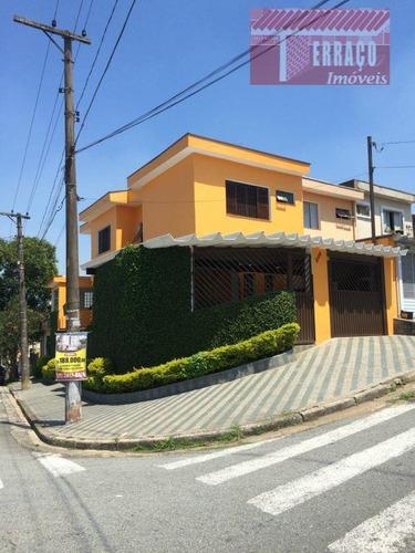 Sobrado Com 3 Dormitórios À Venda, 165 M² Por R$ 560.000,00 - Vila Marina - Santo André/sp - So0438