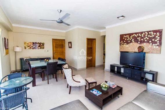 Apartamento En Alquiler Amueblado En Gazcue