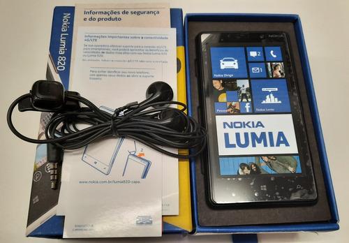 Celular Nokia Lumia 820 Preto 4g- Funcionando - Tela Apagada