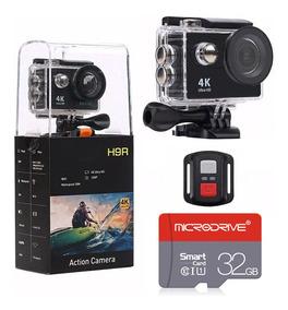 Câmera De Ação Ultra Hd 4k Wi-fi + Controle Remoto + Sd 32gb