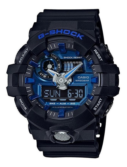 Relógio Casio G-shock Masculino Preto/azul Ga-710-1a2dr