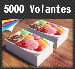 5000 Volantes / Folletos 20x15cm Full Color Doble Faz 90gr.