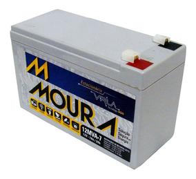 Bateria Moura Estacionária P/ No-breack Alarme 12mva7 - 7a