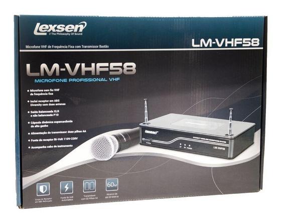 Microfone Sem Fio De Mão Vhf Lexsen Lm-vhf58