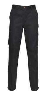 Pantalon Trabajo Cargo Ombu Negro Grafa