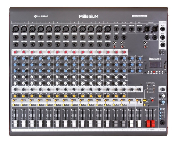 Mesa De Som Linha Millenium M Ll Audio M1602d 16 Canais