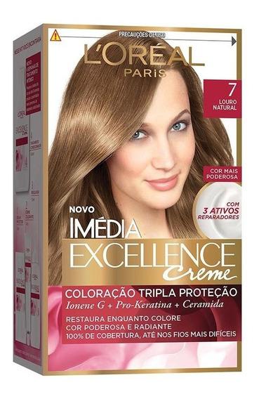 Coloração Imédia Excellence Creme - 7 Louro Natural