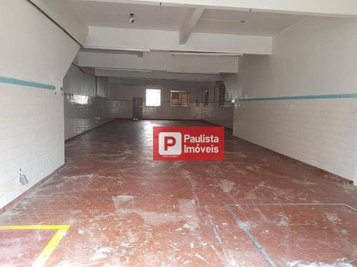Salão Para Alugar, 238 M² Por R$ 4.300,00/mês - Vila Guarani (zona Sul) - São Paulo/sp - Sl0163