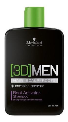 Imagem 1 de 1 de Shampoo Ativador De Raizes Schwarzkopf 3d Men Root Full