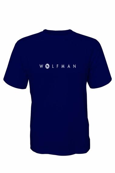 Camiseta Wolfman Lobo Branco Vip Azul Marinho / Branco