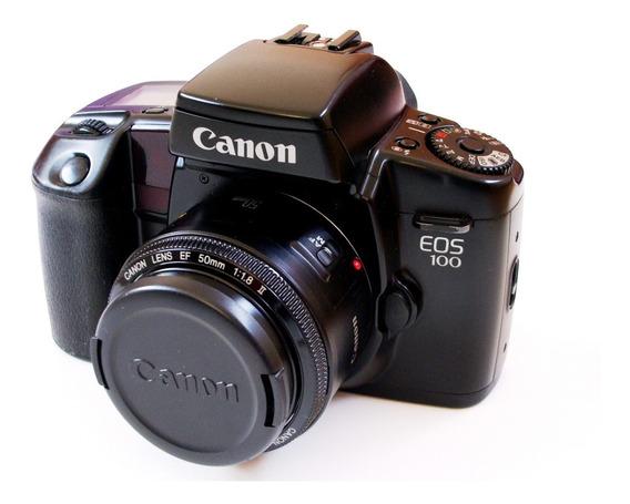 Câmera Analógica Canon Eos 100 Com Lente 35-80mm Jsa